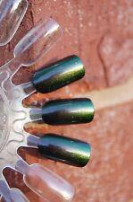 CHROMAFLAIR Multichrome Color Shift Nail Polish Top Coat -5ml. Bottle Grn/Bronze