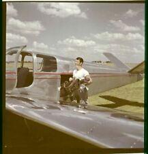 Robert Taylor Candid Vintage Couleur 2 1/4 Photo Transparence Slide Par Avion