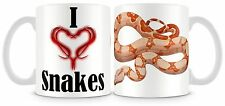 IO Amo Serpenti BOA CONSTRICTOR TAZZA RETTILI Serpente personalizzabile