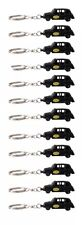 12 London Black Taxi Metallic Key Rings London Souvenir Gift