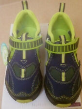 06c44f0e3afe NIB Pediped 10.5 young boy sandals~water safe mesh shoes~navy blue~lime