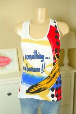DESIGUAL T-Shirt Top Weiß Say Something Nice Gr. S 36 (BB489)