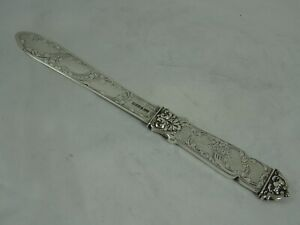 STUNNING VICTORIAN silver LETTER OPENER, 1846, 58gm
