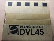 MATCHBOX Sealed Case  (10) DieCast 1:64 Scale.  Camo Truck Asst Two Sets.&&&&