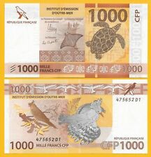 French Pacific Territories 1000 Francs p-6(1) 2014 Unc Banknote