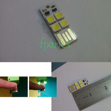 4LED Night Light Card Lamp Keychain White Pocket Mini USB Touch switch computer