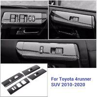 Carbon fiber Car Interior window switch panel Trim For Toyota 4Runner 2010-2020