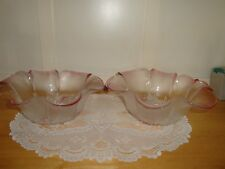 """2 Beautiful Mikasa Frosted Dogwood Fluted Dishes/Bowls-10""""w and 6 1/2"""" deep-"""