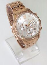 Esprit Damen Uhr rosé gold Edelstahl Steine Chronograph Datum 24 h ES108732002