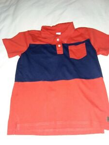 Janie and jack size 6 red and blue polo with front pocket