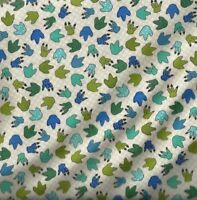 I Love You This Much dinosaur tracks Henry Glass childrens fabric