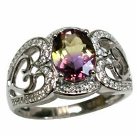 LOVELY 2 CT AMETRINE 925 STERLING SILVER RING SIZE 5-10