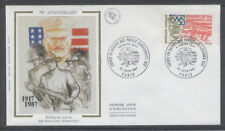 FRANCE FDC - 2477 1 GENERAL PERSHING - 13 Juin 1987 - LUXE sur soie