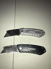 husky folding utility knife