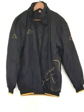KAPPA Mens Designer Black/Yellow Long Sleeve Logo Print Parka Jacket size M GRT