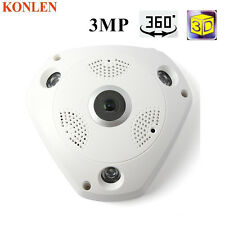 Wireless 360 IPCamera HD 3MP Network Fish Eye Panoramic 1080P WIFI Home Monitor