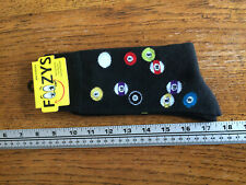 Billiards Pool Table Strike Skill Cue Game Balls Sport Foozys Mens Socks black