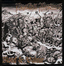 Bestial Warlust Blood & Valour woven patch Vomitor Black Metal Revenge Archgoat