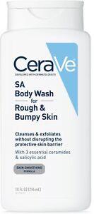 CeraVe SA Body Wash For Rough - Bumpy Skin 10 oz
