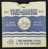1948 Sawyer's View-Master Reel #221 Los Angeles California U.S.A. Viewmaster