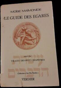 LE GUIDE DES EGARES MOISE MAIMONIDE JUDAISME/BIBLE/RELIGION/KABBALE
