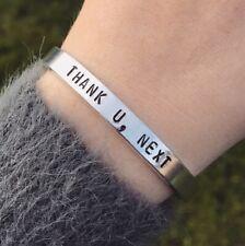 Ariana Grande Thank U Next Bracelet Silver Cuff Bracelet Handmade Jewellery