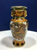 Vintage Ceramic Asian Round Top Vase by K's Collection