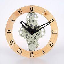 Maple's Clock GCL06-333W Moving Gear Wall Clock Gear Style 333
