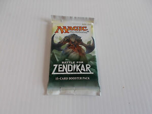 Magic The Gathering Battle For Zendikar Single 15 Card Booster Pack - Sealed