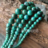 """6mm 8mm 10mm Natural Azurite Chrysocolla Round Gemstone Loose Beads 15""""AAA"""