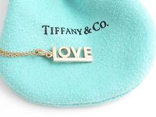 Tiffany & Co 18K Rose Gold Love Pendant Necklace