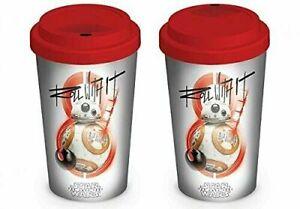 Star Wars The Last Jedi BB-8 Roll With It Ceramic Travel Mug rubber Lid Gift Box