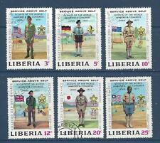 LIBERIA  563-568;577-582 - USED- 1971- BOY SCOUT JAMBOREE, SAPPORO OLYMPICS