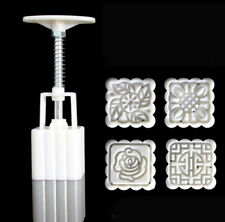 WELL New Mooncake Moon Cake Plunger Mold Cookie Cutter 50g Stamps Square Flower