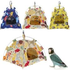 Soft Coral Pet Bird Parrot Tent Hammock Foldable Cartoon Bird Nest Bed Cave Cage