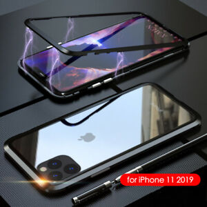 Magnetic Adsorption Case For iPhone 11/12/Pro/Max/X/Xr/Xs Max Temper Glass Cover