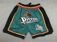 Detroit Pistons Shorts Teal All Stitched