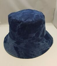 Cotton Bucket Hat Fisherman's Reversible Blue/ Black Shawer Proof Hat  In UK