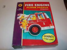 Fire Engine Floor Puzzle 4' Long, 24 Large Pcs. by Brighter Child Ages 3+