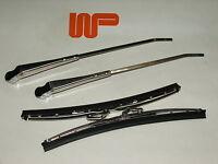 CLASSIC MINI - PAIR WIPER ARMS & BLADES IN S/STEEL RHD 13H5629/GWB219