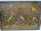 FOR SYLVIA Large Antique Kashmir India Hand Painted Lacquer Folding Tray Table