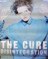 RARE THE CURE DISINTEGRATION 1989 VINTAGE ORIG RECORD ALBUM PROMO POSTER