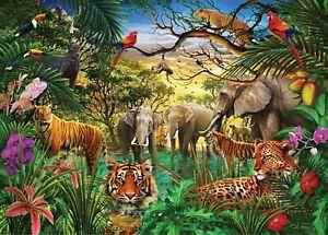 Jungle Animals 3D Wall Sticker Art Poster Decals Murals Kids Room Nursery Z26