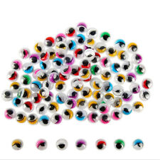 100x Coloured Eyelashes Wiggly Wobbly Googly Eyes Lash   (Color: Multicolor) SK