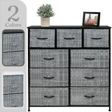 Sorbus 9 Drawers Dresser - Furniture Storage Chest Organizer Bedroom Unit - Gray