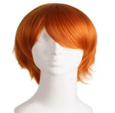 Multi Color Short Straight Hair Wig Anime Party Cosplay Full sell Wigs+ Cap 30cm