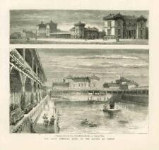 1877 Antique Print AUSTRIA VIENNA RIVER DANUBE SWIMMING BATHS REICHSBRUCKE (61B