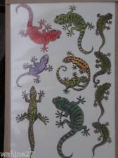 New - Set of 6 Polynesian Style Temporary Tattoos +1 Band - Geckos