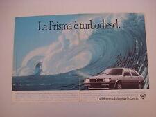 advertising Pubblicità 1985 LANCIA PRISMA TURBODIESEL TD