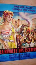 LA REVOLTE DES ESCLAVES   !  s gainsbourg affiche cinema peplum